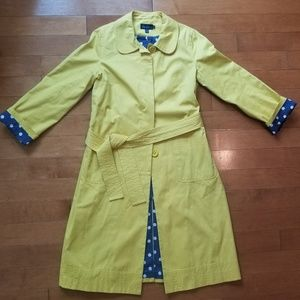 Boden Yellow Trench Coat